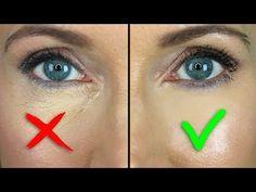 Dry Skin Under Eyes, Under Eye Creases, Under Eye Makeup, Under Eye Mask, Under Eye Concealer, Blue Eye Makeup, 50s Makeup, Hair Makeup, Face Makeup Kit
