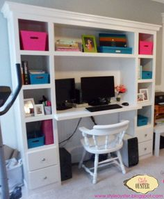 Morgan Jennifer Blog: Hubbies & Blogs / DIY Desk / Blogger Office / Pink and Teal