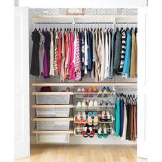 elfa Reach-In Clothes Closet Birch & White for Connor's Closet