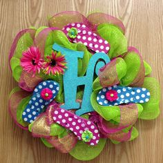 Lori's flip flop wreath