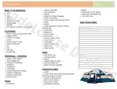 Camping Checklist - An Example Camping Check List *** Continue with the details at the image link. #CampingChecklist