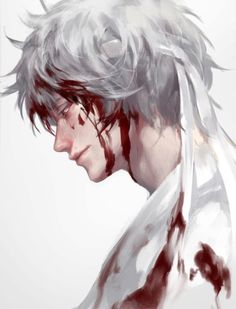 by MIKI努力画 ※ Posted with permission from the artist. Handsome Anime Guys, Cute Anime Guys, Anime Love, Sad Anime, Manga Anime, Anime Art, Fantasy Characters, Anime Characters, Gintama