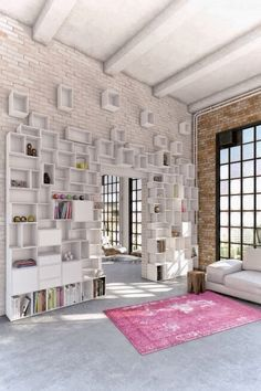 These bookcases are both practical and artistically aesthetic.