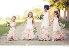 Top Wedding Ideas - Dollcake boho flower girl dresses for girls Boho Wedding, Wedding Gowns, Dream Wedding, Rustic Wedding, Flower Girl Dresses Boho, Girls Dresses, Dresses Dresses, Dollcake Dresses, Bridesmaid Flowers