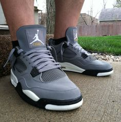 """Cool Grey"" Air Jordan Retro 4."