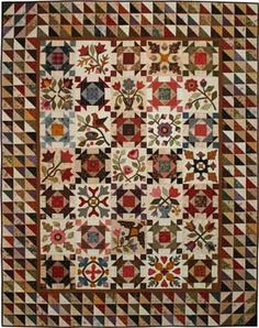 """Heritage Sampler quilt pattern by Lori Smith, Quilt finishes 49½""""x 63"""", Blocks finish 6¾""""x 6¾"""" - LOVE it!!"""