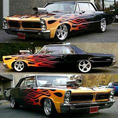 a real hot pontiac Muscle Cars Vintage, Custom Muscle Cars, Custom Cars, Pontiac Lemans, Pontiac Cars, Classic Hot Rod, Classic Cars, Mustang 1965, 1965 Gto