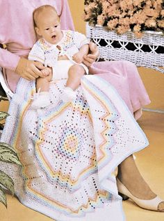 Crochet rainbow pattern | Crochet rainbow blanket afghan, Jacket and Bootie Set.