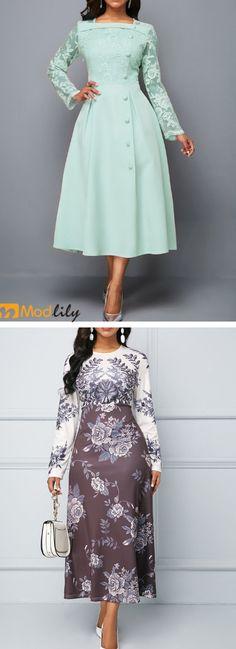 Modlily gives you better choice. Classy Outfits, Pretty Outfits, Beautiful Outfits, Classy Clothes, Curvy Fashion, Fashion Looks, Skirt Fashion, Fashion Dresses, Dress Outfits