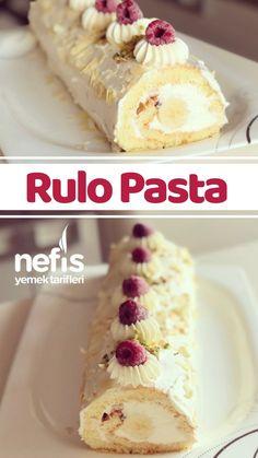 kişinin defterindeki Rulo Pasta Tarifi'nin resimli anlatımı ve deneyenlerin fotoğrafları burada. Easy Cake Recipes, Pasta Recipes, Chicken Recipes, Dessert Recipes, Desserts, Yummy Recipes, Wie Macht Man, Dinner For Two, Healthy Baking
