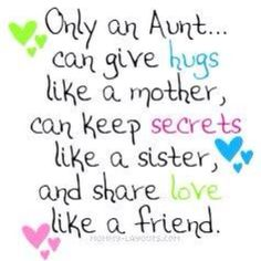 For the three most beautiful nieces an auntie could have . . . Emily, Maddie and Gabby