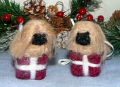 Needle Felt Ornaments Custom Made By FibreHeart Wool Studio