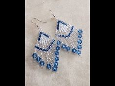 ▶ (Tutorial) Crystal Feather Earrings (Video 64) - YouTube