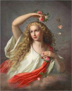 Allegory of Spring. Nathanael Schmitt (German, 1847-1918)