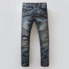 Knee Ripped BALMAIN Men JEANS via JQ online store. Click on the image to see more!