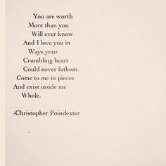 """Blossom:Blossom in me"" series poem #17 Christopher Poindexter"