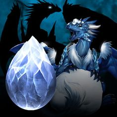 Frost Dragon - found in the frozen caves atop the highest moutains or deep within glaciers, these dragons can cause global climate change