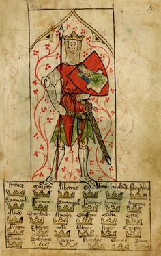 King Arthur by Peter of Langtoft ~ Chronicle of England (England, 1300).