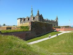 Kronborg Castle in Elsinore, Denmark.