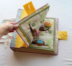 Quiet Book Cover Busy Book Toddler Preschooler by AnneCraftedGifts - there are some very cute ideas here! Grandma Crafts, Baby Quiet Book, Felt Quiet Books, Techniques Couture, Toddler Books, Book Quilt, Busy Book, Felt Crafts, Fabric Crafts