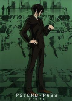 PSYCHO-PASS, Ginoza Nobuchika, Green Background