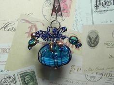Unique Handcrafted Gifts by CKLimited Tablecloth Weights, Beads And Wire, Glass Beads, Perfume Bottles, Copper, Handmade Gifts, Crafty, Table Decorations, Christmas Ornaments