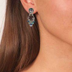 Boho Chandelier Vintage Earrings Awakening - Anthos Crafts Handmade Art, Handmade Jewelry, Ayala Bar, Fabric Beads, Vintage Chandelier, Affordable Jewelry, Chandelier Earrings, Vintage Earrings, Awakening
