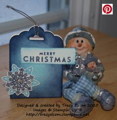 This peppermint patty treat holder was created using the Flurry of Wishes Stamp Set and Snow Flurry Punch bundle from Stampin' Up!  http://tracyelsom.stampinup.net