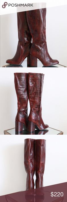 Free People GORGEOUS tall boots! Free People GORGEOUS boots! Brand new in box with dust bag. Lovely chunky heel with side zip, size 7. Fits true to size and generous room in the leg. Retails for $328 plus tax. Free People Shoes Heeled Boots