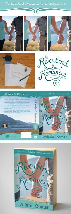 Cover design process for The Riverbend Romances. Featuring custom photography and hand lettering. | The Book Cover Bakery