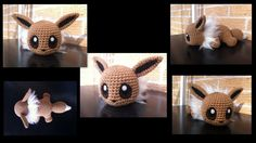 Baby Eevee - Pokemon Character - Free Amigurumi Pattern here:  http://aphid777.deviantart.com/art/Baby-Eevee-with-pattern-443660084