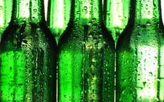 Preview wallpaper beer, bottle, drop, pattern 3840x2400