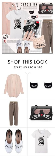 """""""Feline Fashion"""" by anna-anica ❤ liked on Polyvore featuring Clover Canyon, Rick Owens, Karl Lagerfeld and Old Navy"""