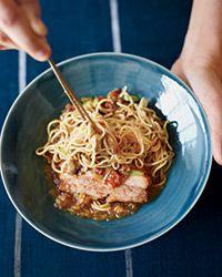 Chile-Eggplant Mazemen Ramen with Pork Belly Recipe - from one of the greatest Ramen chefs: Ivan Orkin