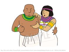 Potiphar's wife accuses Joseph. Joseph and Potiphar's wife | Lamp Bible Pictures