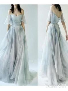 986f20f4930f Off the Shoulder Ombre Beach Wedding Dresses for Wedding Photo ARD1944