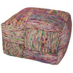 Jaipur, Chairs & Ottomans,, Chairs & Ottomans, Ottomans, Multi, Traditional, Fabric, Jaipur Milford By Rug Republic Silk Block