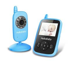 HelloBaby Wireless Video Baby Monitor Security Camera with Night Vision & Temperature Monitoring, 2 Way Talk Talkback System and VOX Mode (HB24 Blue) -- Want additional info? Click on the sponsored image.