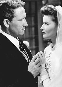 Spencer Tracy & Katharine Hepburn met just prior to their working together on the first of their films, WOMAN OF THE YEAR (1942).