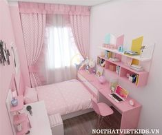 Small Room Design Bedroom, Bedroom Decor For Teen Girls, Girl Bedroom Designs, Room Ideas Bedroom, Home Room Design, Small Girls Bedrooms, Girls Room Design, Study Room Decor, Pastel Room