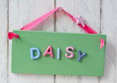 Children's Bedroom Door Sign -  Bright & Pretty