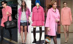 Pink Coats http://www.sparklyfashion.com/2013/10/rock-trend-pink-coats_19.html