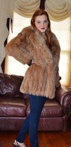 Lovely Lightweight Brown Genuine Fox Fur by vintageveronique