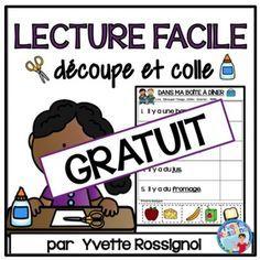 LECTURE FACILE (Découpe et colle) GRATUIT maternelle, vocabulaire