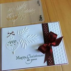 SIZZIX EMBOSSING FOLDER Christmas Ornament Bauble with Branch - NEW