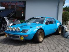 Renault Alpine A310  The A310 used the same ideas from the past; steel tube chassis, rear engine, rear-wheel drive layout and lightweight fiberglass body. It was initially offered only with a 125hp, 4-cylinder engine and 6-front headlights but was updated in 1976 with a 149hp, V6 engine and a top speed of 137mph.