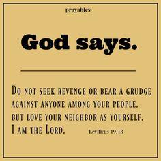 Bible: Leviticus 19:18 – Prayables