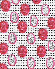 Dragonfruit II. #pattern #illustration