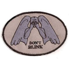 Doctor Who Don't Blink Weeping Angel Patch featuring polyvore, women's fashion, accessories, doctor who, fillers, patches and pins