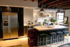 Kathleen Perkins carriage house kitchen from hookedonhouses.net  - love this remodel!